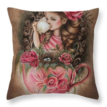 Porcelain Throw Pillow by Sheena Pike