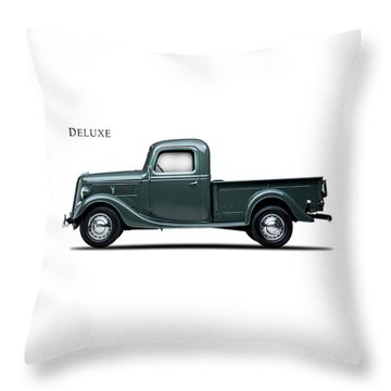 Ford Deluxe Pickup 1937 Throw Pillow by Mark Rogan