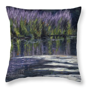 Blue Pond Throw Pillow