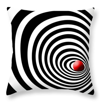 Time Tunnel Op Art Throw Pillow by Methune Hively