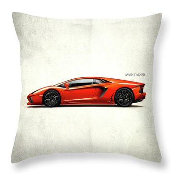 Lamborghini Aventador Throw Pillow by Mark Rogan