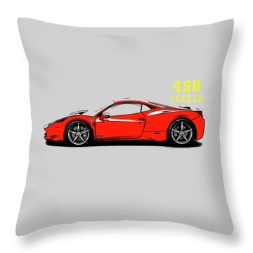 Ferrari 458 Italia Throw Pillow by Mark Rogan