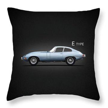 The 65 E-type Coupe Throw Pillow
