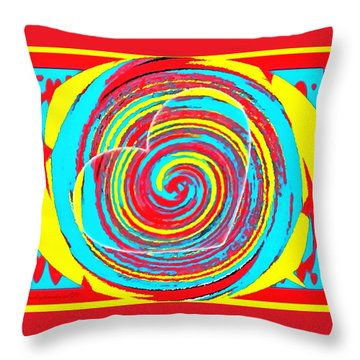 Boo Hearted Throw Pillow by Catherine Lott