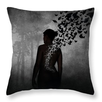 The Butterfly Transformation Throw Pillow