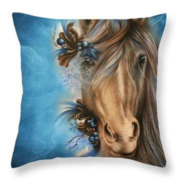 Pretty Blue Throw Pillow by Sheena Pike