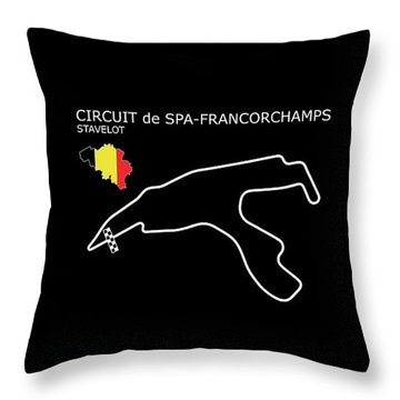 Spa Francorchamps Throw Pillow by Mark Rogan