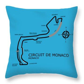 Circuit Of Monaco Throw Pillow by Mark Rogan