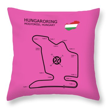 Hungaroring Throw Pillow