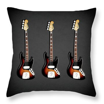 Fender Jazzbass 74 Throw Pillow