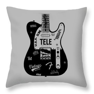 Fender Telecaster 64 Throw Pillow by Mark Rogan