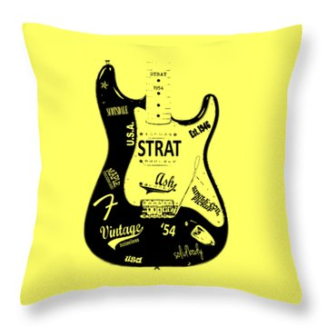Fender Stratocaster 54 Throw Pillow by Mark Rogan