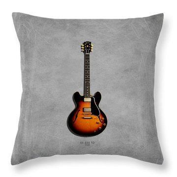 Gibson Es 335 1959 Throw Pillow by Mark Rogan