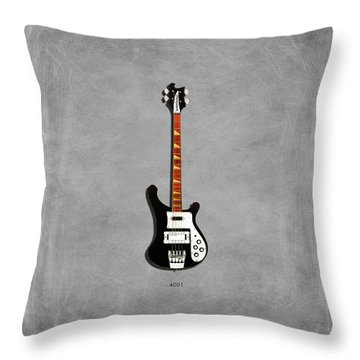 Rickenbacker 4001 1979 Throw Pillow by Mark Rogan