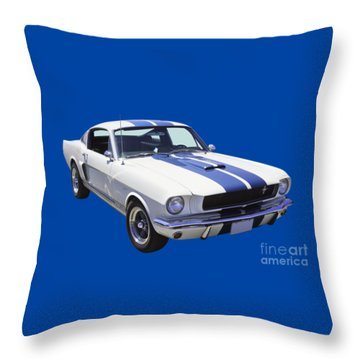 1965 Gt350 Mustang Muscle Car Throw Pillow