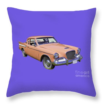 1961 Studebaker Hawk Coupe Throw Pillow