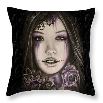 Lithium Throw Pillow by Sheena Pike