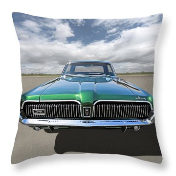 Green With Envy - 68 Mercury Throw Pillow