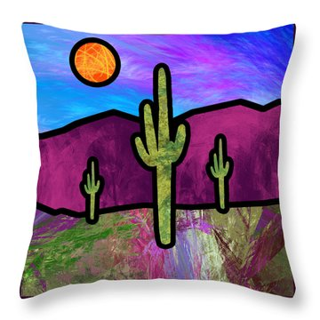 Desert Stained Glass Throw Pillow