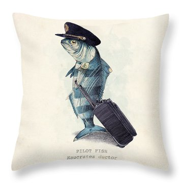 The Pilot Throw Pillow