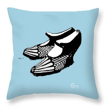 Zeldas Party 1920 Flapper Shoes...robins Egg Blue Throw Pillow