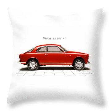 Alfa Romeo Giulietta Sprint Throw Pillow