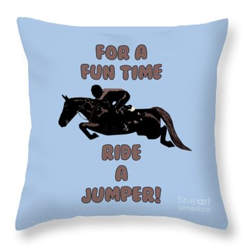 For A Fun Time Throw Pillow by Patricia Barmatz
