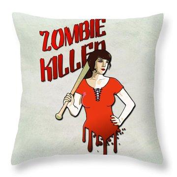 Pinup Girl Throw Pillows