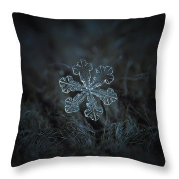 Snowflake Photo - Vega Throw Pillow