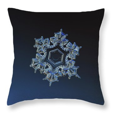 Snowflake Photo - Spark Throw Pillow