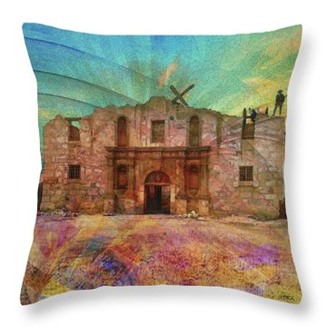 John Wayne's Alamo Throw Pillow