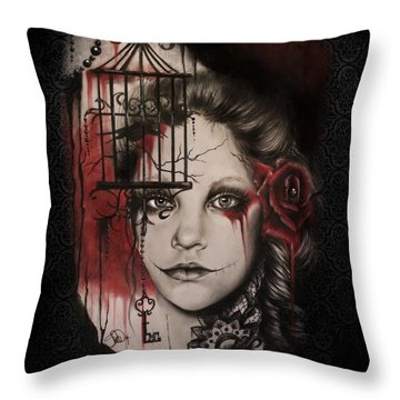 Inner Demons  Throw Pillow by Sheena Pike