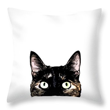 Kitty Throw Pillows