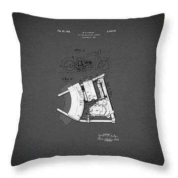 Harley Davidson Patent Throw Pillows