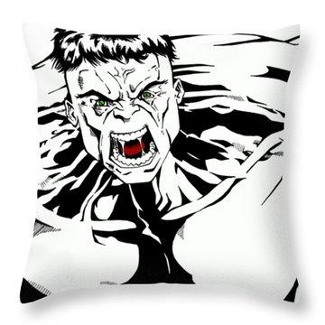 Rampaging Throw Pillow