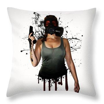 Drip Throw Pillows