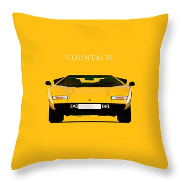 The Lamborghini Countach Throw Pillow by Mark Rogan