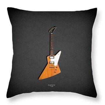 Gibson Explorer 1958 Throw Pillow