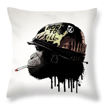 Born To Kill Throw Pillow by Nicklas Gustafsson