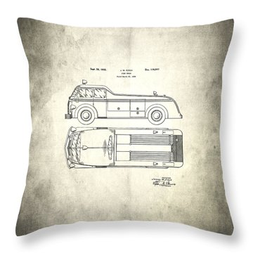 1939 Fire Truck Patent Throw Pillow