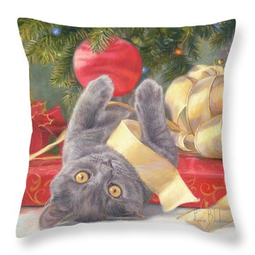 Christmas Surprise Throw Pillow