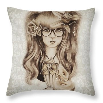 Vanilla Throw Pillow by Sheena Pike