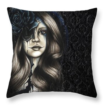Throw Pillow featuring the drawing Betrayal by Sheena Pike