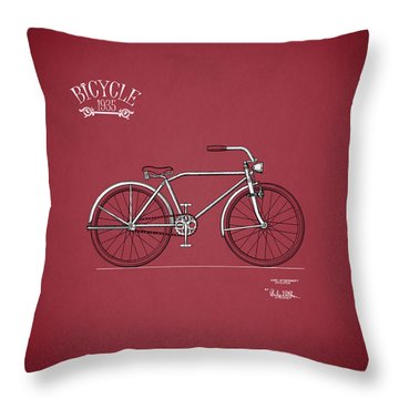 Bicycle 1935 Throw Pillow by Mark Rogan