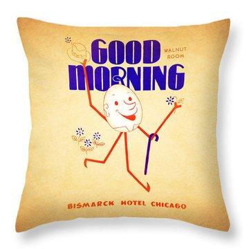 Bismark Hotel Chicago 1945 Throw Pillow