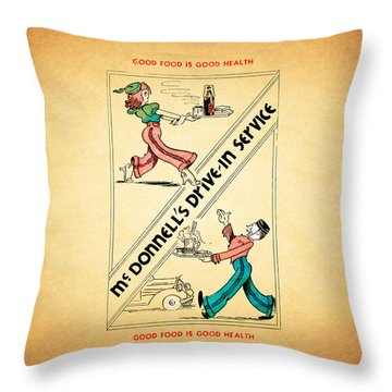 Mcdonnells Drive In 1948 Throw Pillow