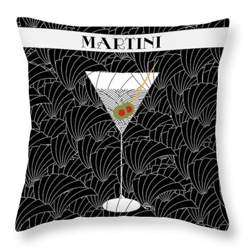 1920s Martini Cocktail Art Deco Swing   Throw Pillow