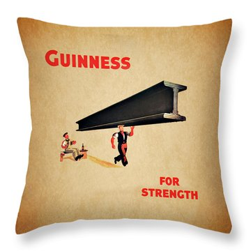 Guiness For Strength Throw Pillow