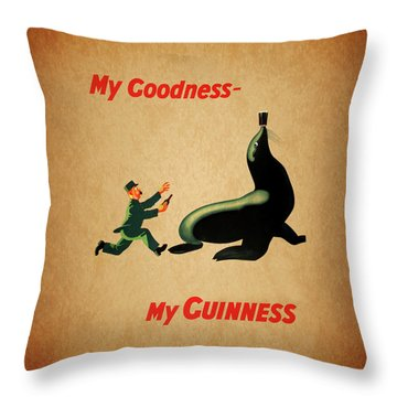 My Goodness My Guinness 1 Throw Pillow