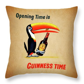 Opening Time Is Guinness Time Throw Pillow
